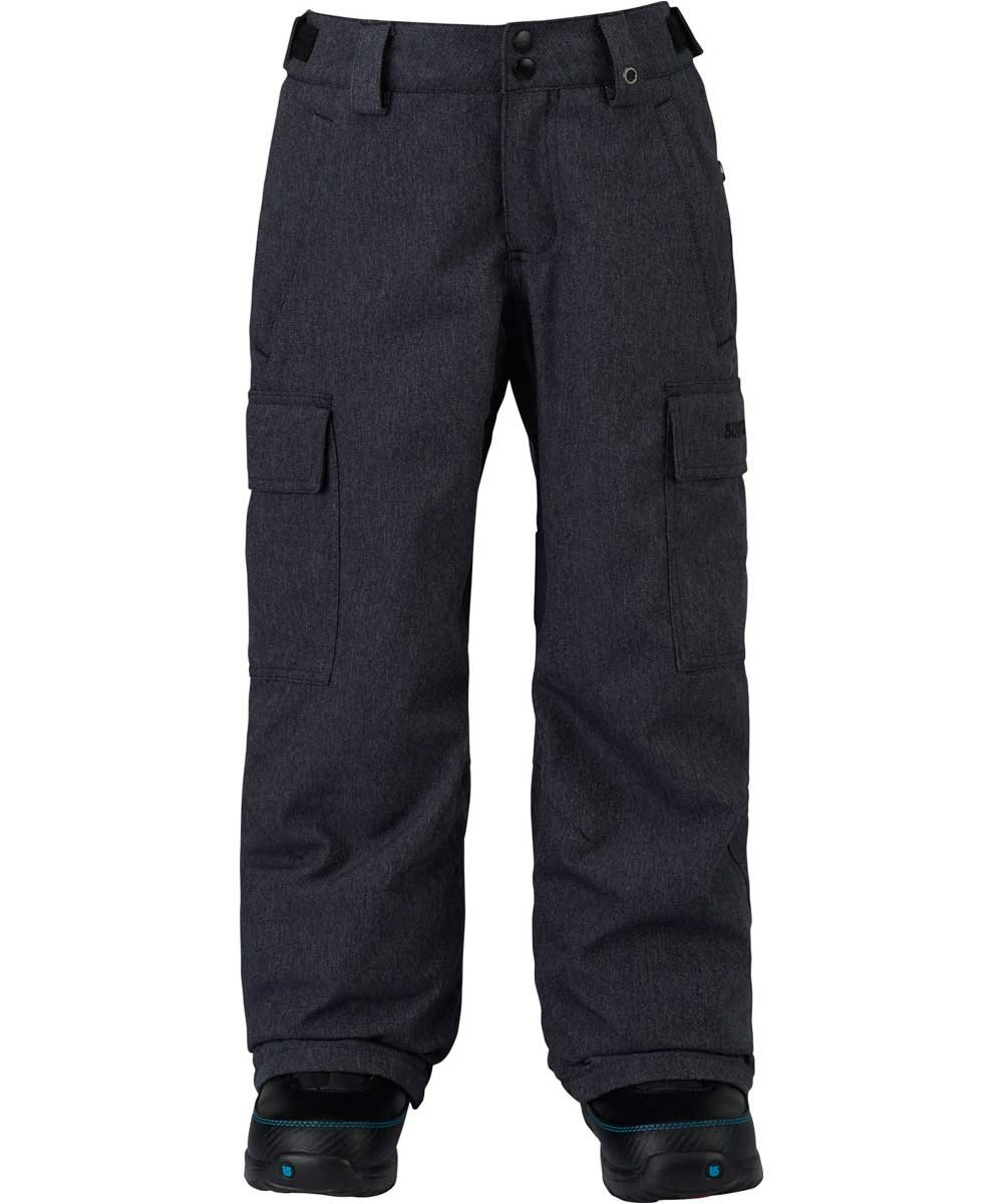 Burton Kids Boys Exile Cargo Snow Pants Denim Size Large