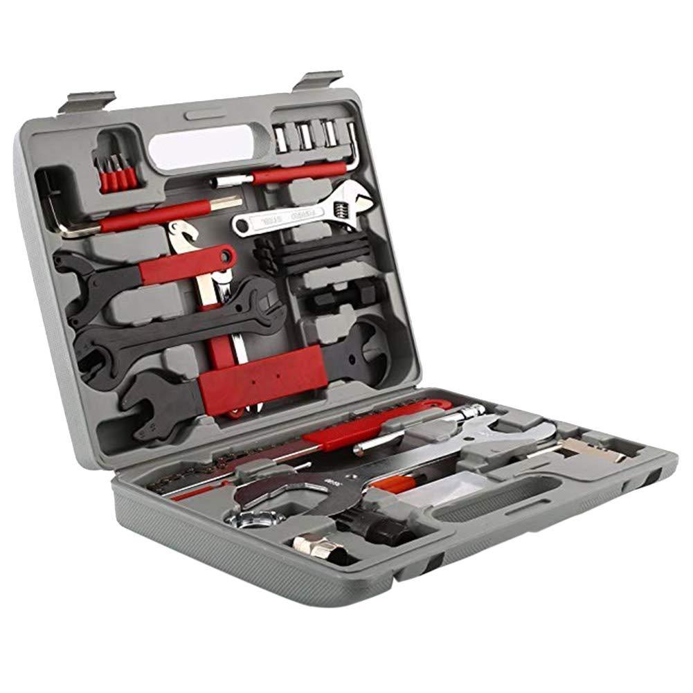 leoie Sports 44pcs/Set Bicycle Repair Kit Multi-Functional Bicycle Repair Kit
