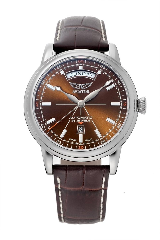 [アビエイター]AVIATOR DOUGLAS(ダグラス) デイデイト メンズ 自動巻き 腕時計 V.3.20.0.140.4[正規輸入品] B07F8R93V7