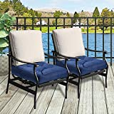 Outdoor Patio Chair Cushions, Ohuhu Tufted Square