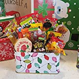 Glam Lux Mexican Posada Christmas Candy Assortment Gift Tin/Basket, Great gifts under 10, 37 pcs of sweet & spicy candy assortment, pulparindo, mazapan, pica goma, canels & more FREE S&H!