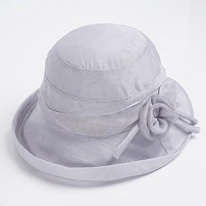 LZ Home Visiera Pieghevole Protezione Solare Cappello da Sole Cappello in Seta  Anti-UV ( a445d2095b55