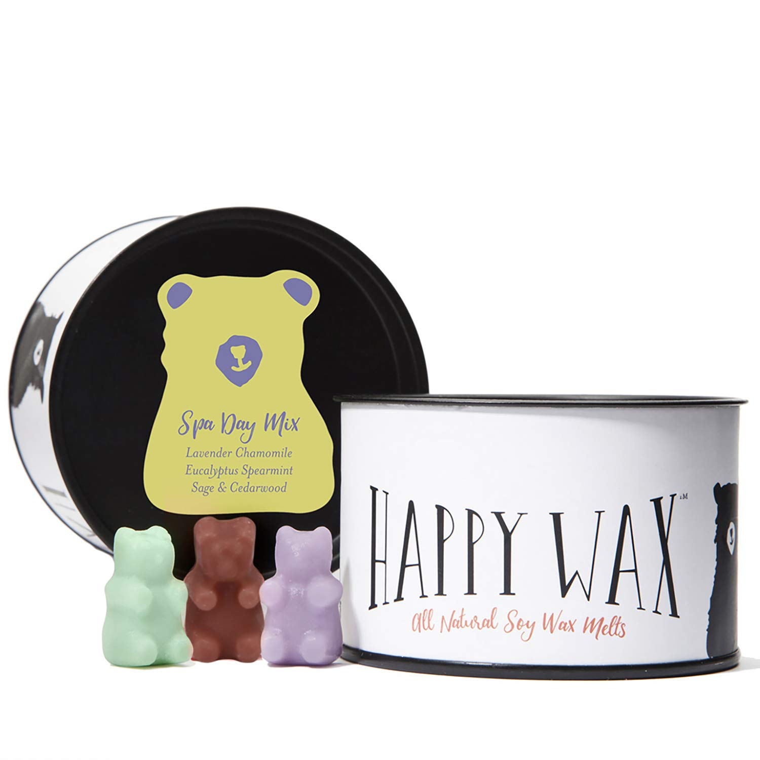 Happy Wax - Four Mixed Tins Wax Melt Gift Set - Includes 3.6 Oz Each of Our Scented Soy Wax Melts in Our Cocktail Mix, Fresh Mix, Citrus Mix, and Spa Day Mix! by Happy Wax (Image #5)