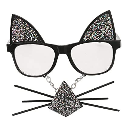 7fc8457f34cf1 Image Unavailable. Image not available for. Color  TOYMYTOY Funny Party Glasses  Cat Whiskers Sunglasses Costumes Cosplay Accessory