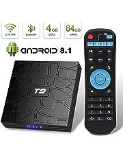 Android 8.1 TV Box Superpow T9 4GB RAM 64GB ROM RK3328 Quad-core Support 4K Full HD 2.4Ghz Wi-Fi BT 4.1 USB 3.0 H.265 Smart TV Box