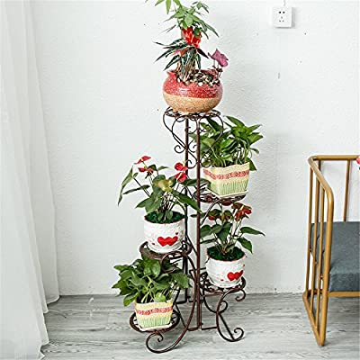Multi-Storey Subway Art Flower Racks Balcony Living Room Stairs Plant Multifunctional Flower Display Stands Wood Pot Shelf Storage Rack Outdoor Indoor Pots Holder Thanksgiving Christams Birthday Gif