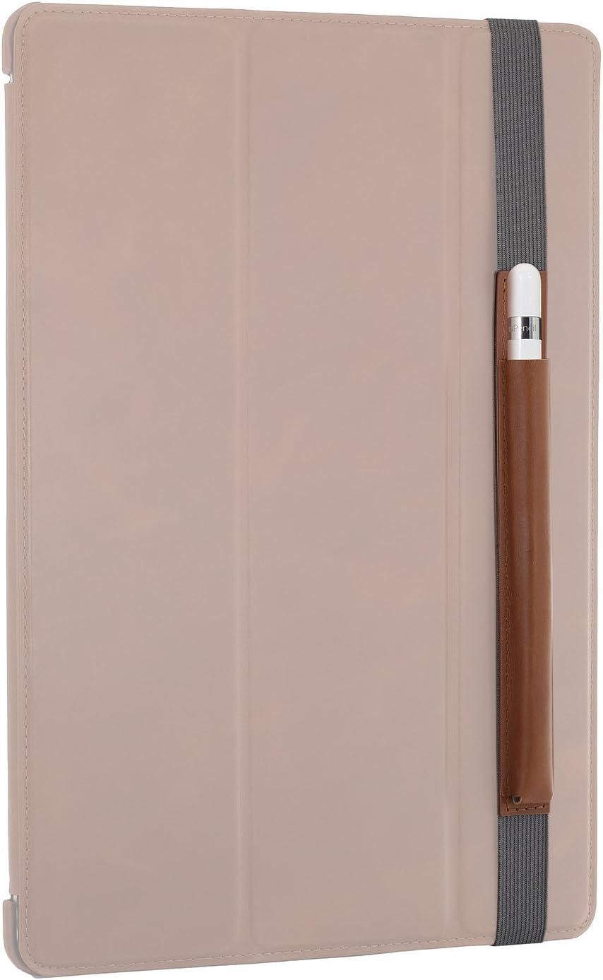 STILGUT Porte-Pencil Compatible avec iPad Pro 12.9 Pouces en Cuir Rouge