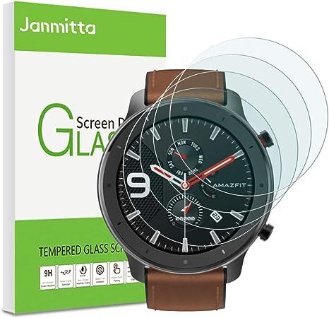 Janmitta [4 Pack Amazfit GTR 47mm Protector de Pantalla, 9H Dureza ...