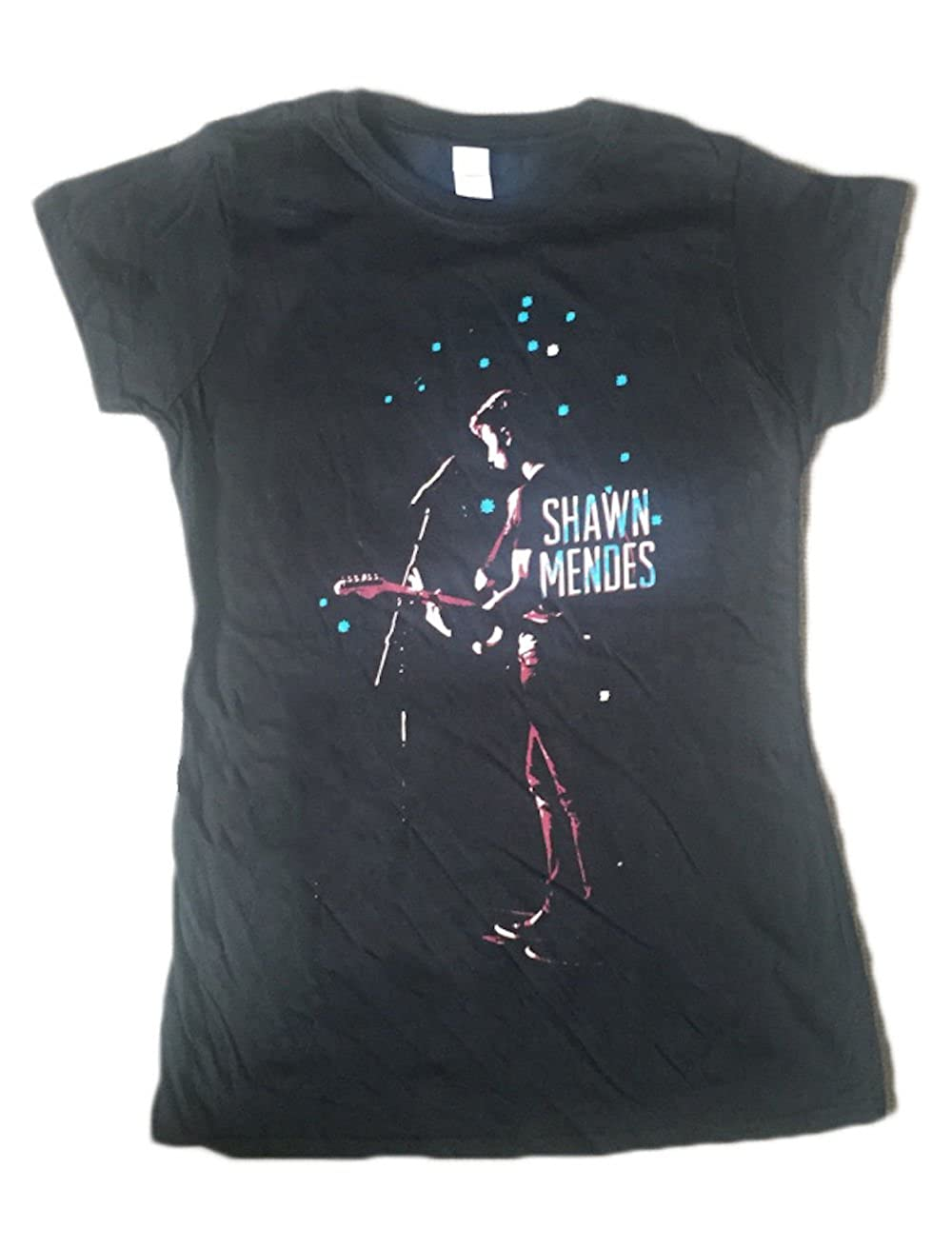 9fa4bbb3d Shawn Mendes Silhouette - Official Womens T Shirt Black: Amazon.co.uk:  Clothing