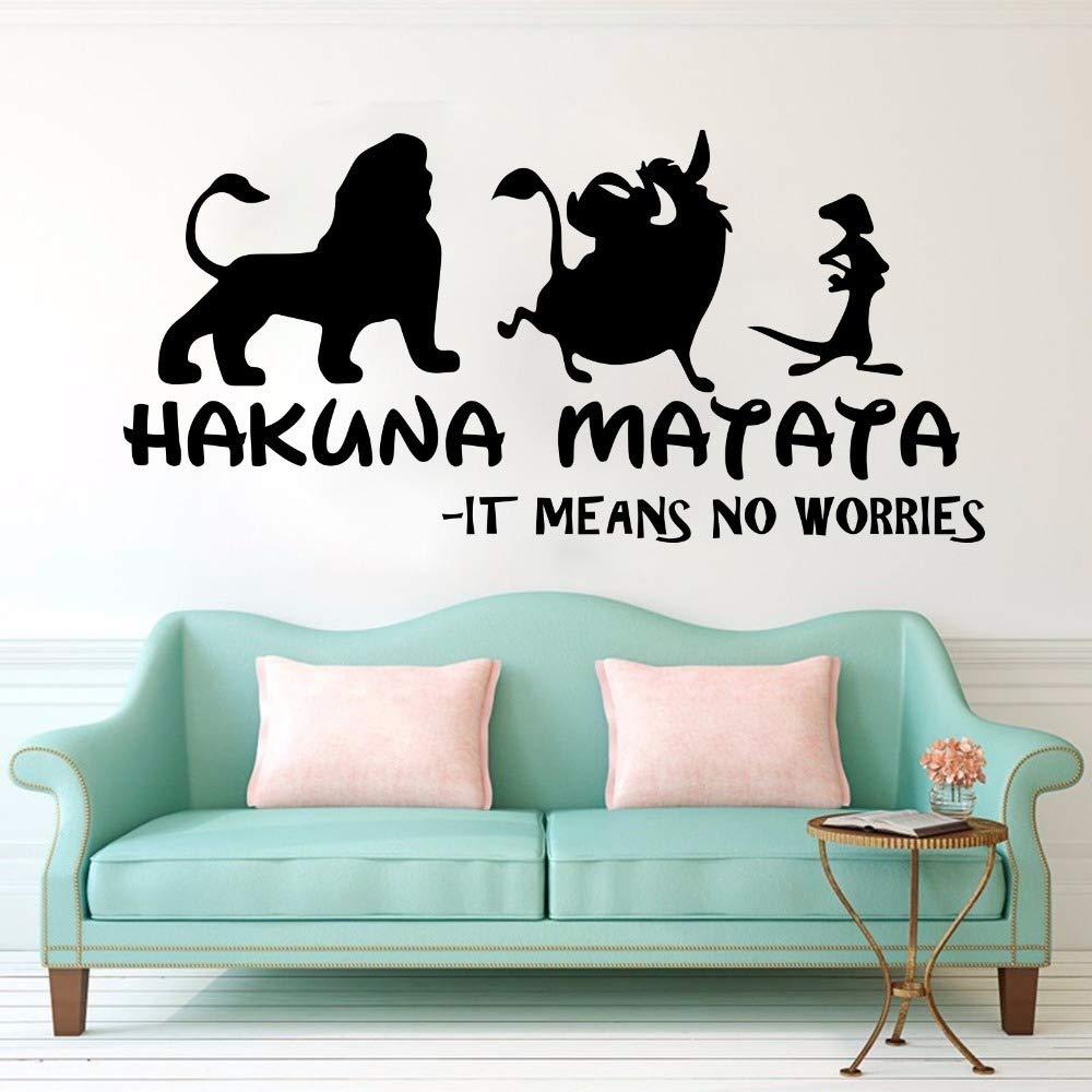 Hakuna Matata Lion King Cita Tatuajes de Pared Cuarto de niños ...