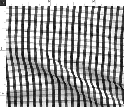 Amazoncom Spoonflower Black And White Plaid Fabric Gingham