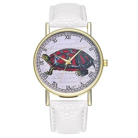 GYwink - Reloj de Piel sintética para Hombre y Mujer, Diseño de Tortuga, Color