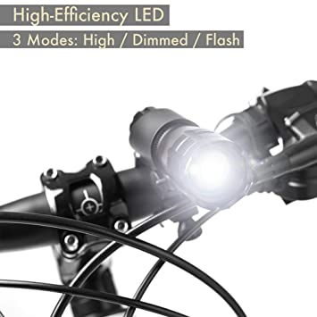 7W Bicycle Universal Light Headlight Super Bright Battery Powered LED Tail
