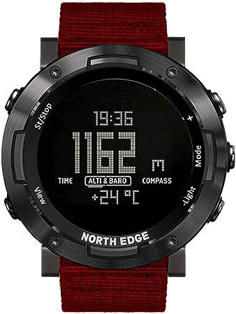 Reloj Digital Deportivo para Hombres para Nadar Corriendo, Reloj De Pulsera Militar Led Relojes Digitales Grandes De Doble Esfera para Exteriores,Rojo: Amazon.es: Hogar