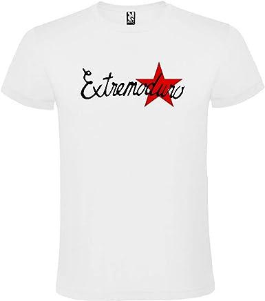 ROLY Camiseta Blanca con Logotipo de EXTREMODURO Hombre 100% Algodón Tallas S M L XL XXL Mangas Cortas: Amazon.es: Ropa y accesorios