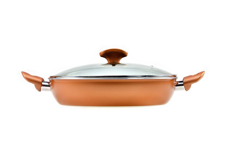 RAVELLI Italia Linea 20 Non Stick Saute Pan With Lid 11inch