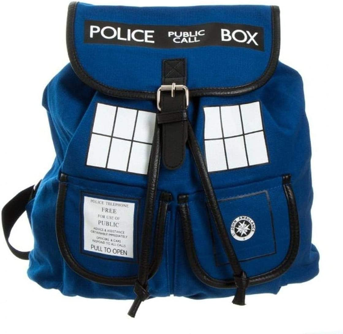 Bioworld Doctor Who Tardis Knapsack Backpack 14 x 17in