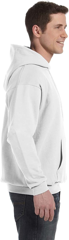 Hanes P170 Mens EcoSmart Hooded Sweatshirt Medium 1 Kelly 1 White
