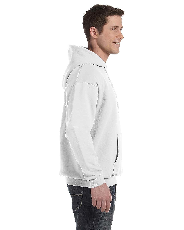 1 White Hanes P170 Mens EcoSmart Hooded Sweatshirt Medium 1 Deep Forest