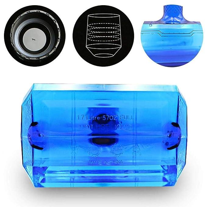 Blue# Thor Hammer 1.7 Liter Water Bottle Free Sport Training Workout Gym Black
