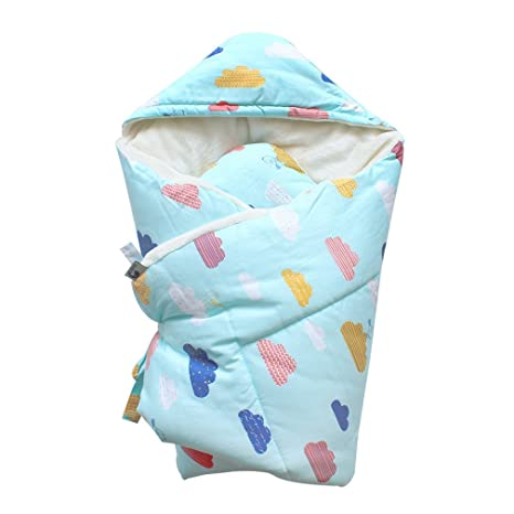 Amazon Com Baby Swaddle 90x90cm Baby Blanket Thick Warm Berber