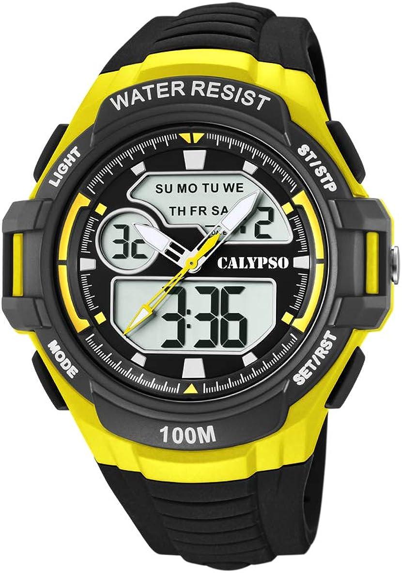 Calypso Watches Reloj Analógico-Digital para Hombre de Cuarzo con Correa en Plástico K5770/1