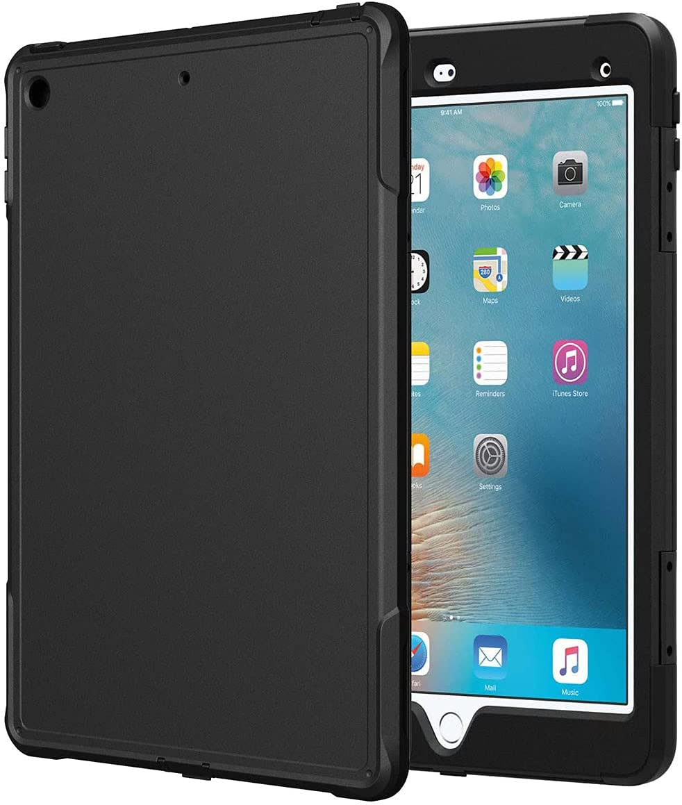 Rome Tech Rugged Case for 7.9-inch Apple iPad Mini 5/4th Gen - A2126 A2124 A2133 A2125 - Heavy Duty Shockproof Protective Cover for Apple iPad Mini 2019 - Black