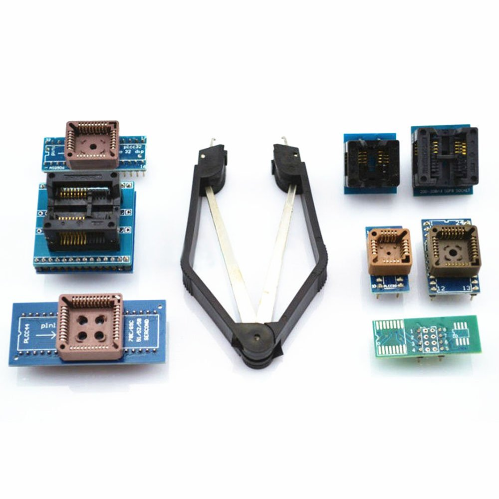 Image of Diymore 8 Programmer Adapters Sockets Kit for TL866CS TL866A