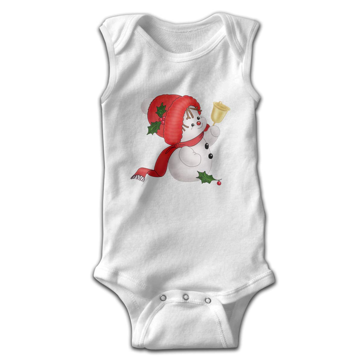 Infant Baby Boys Rompers Sleeveless Cotton Jumpsuit,Cute Snowman Baby Bodysuit Summer Pajamas