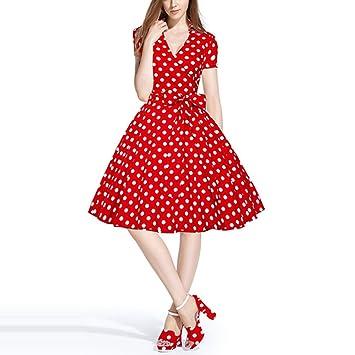Vestido de mujer Vestidos de mujer Vintage Street Chic Un vestido de línea - Lunares Gran