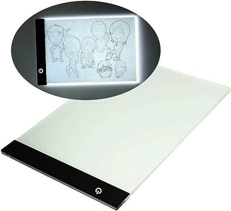 A4 ultrafina portátil LED caja de luz para calcar libre línea de conexión USB Batería: Amazon.es: Juguetes y juegos