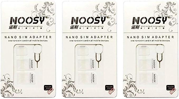 Amazon.com: Sim Card Adapter Kit 3-Pack (9 total Adaptadores ...