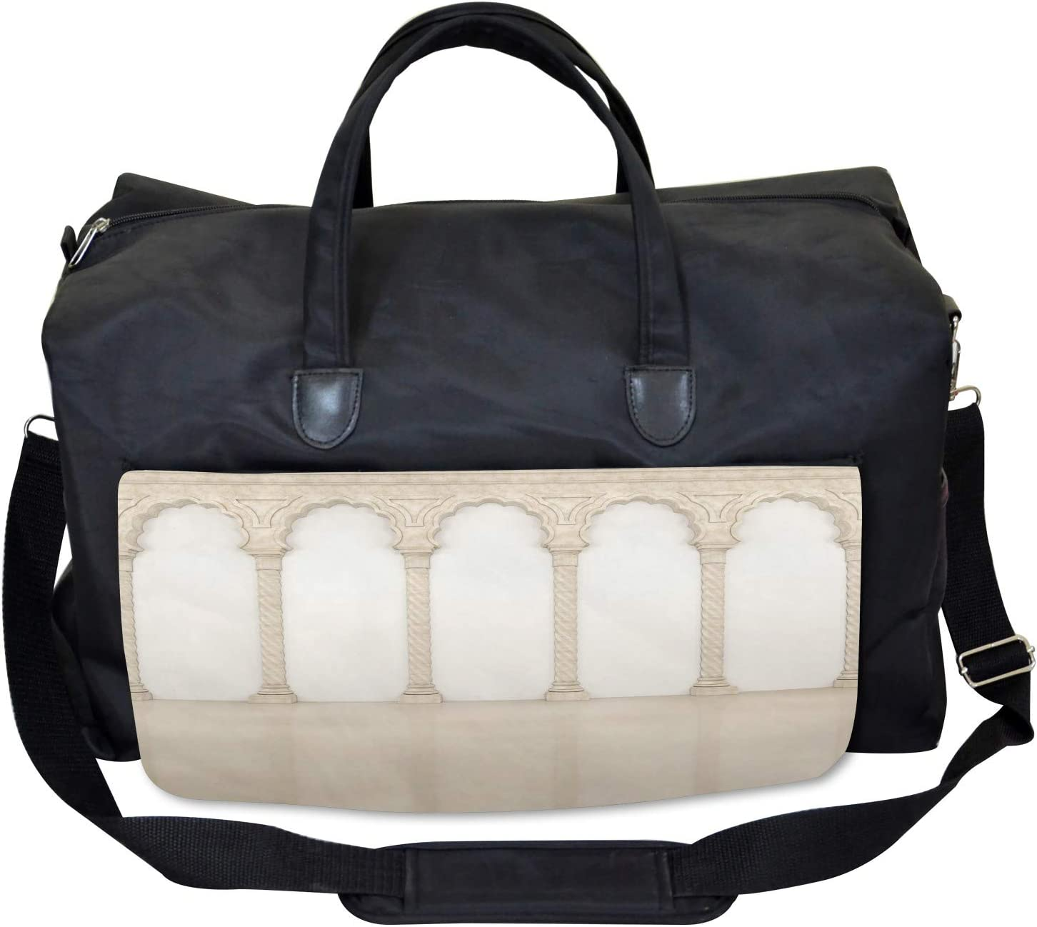 Ambesonne Digital Gym Bag Large Weekender Carry-on Column Arches Ancient