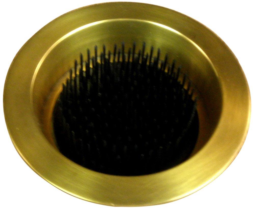 JWL (1) Solid Brass Water Holding Flower Arranger Pin Frogs 5 Lip Cup Fits 4 Hole Antique Brass Color JWL Hawnkoa JWLBr5LipWHKenAB