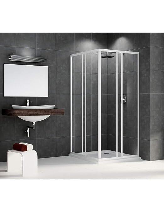 Mampara de ducha Riviera a 80, 79 cm (extensible hasta 89 cm ...