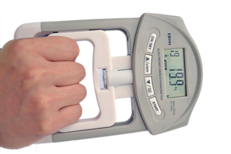 Deyard eh101 Electronic Hand Dynamometer 90 kg / 200ポンド容量範囲ハンドグリップStrengthener with 19個々のレコードのセット   B00CTOZGO0