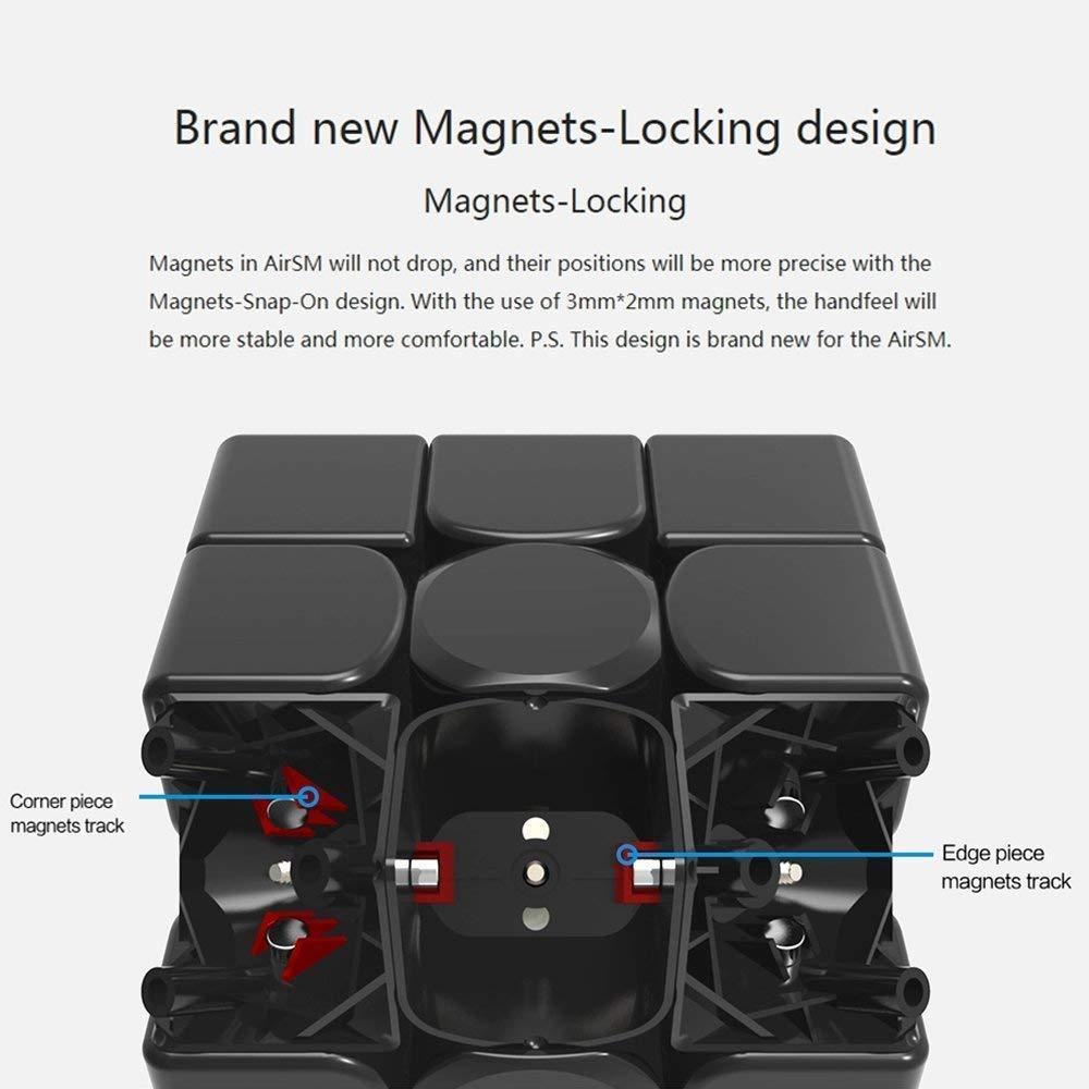 Magnetische Hochgeschwindigkeitsversion Coogam Gans 356 Air SM Geschwindigkeitsw/ürfel 3x3 Schwarz Gan 356Air S Magnetische Puzzlew/ürfel mit GES V3 Fr/ühling