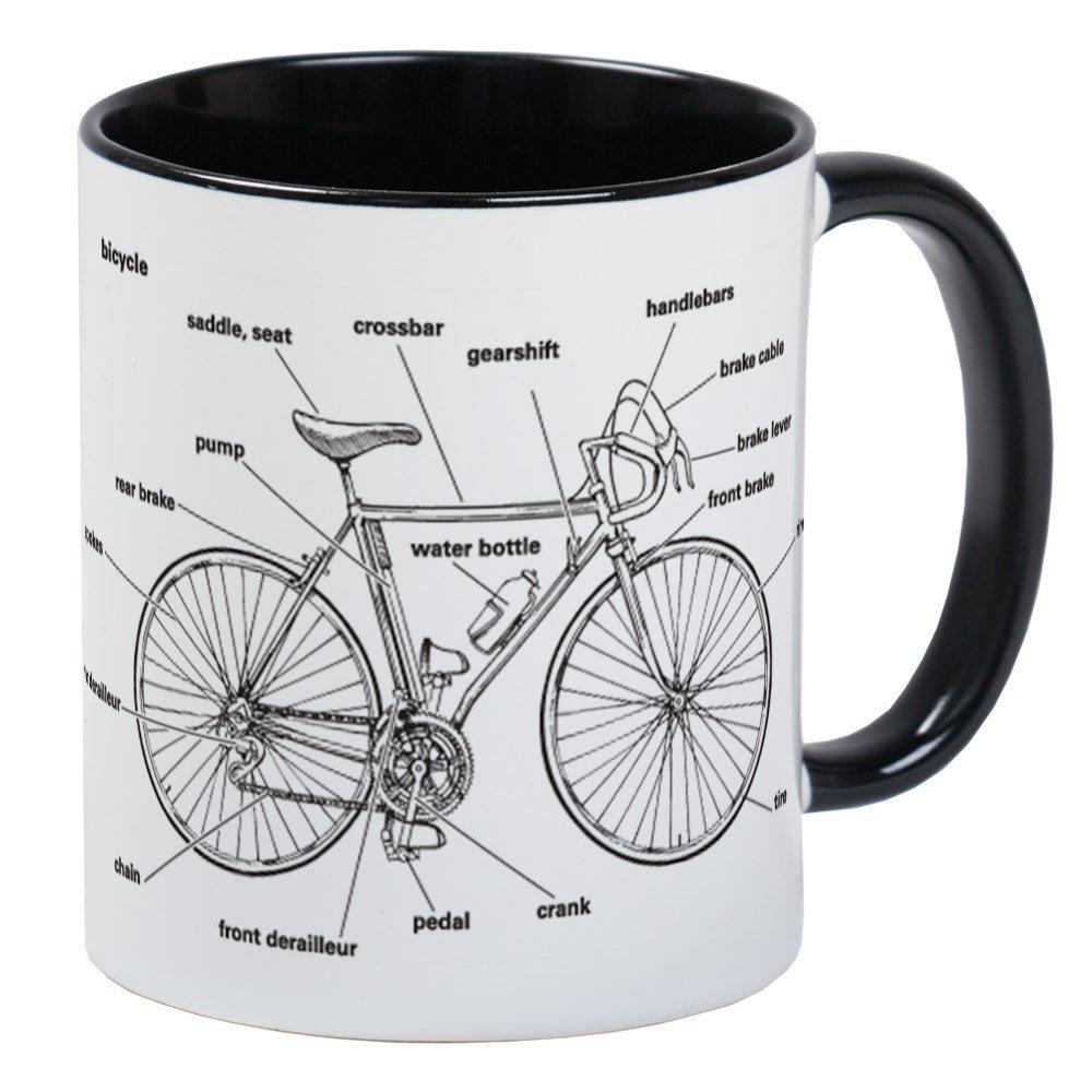 CafePress – Fahrrad Anatomie – Einzigartige Kaffee Tasse ...