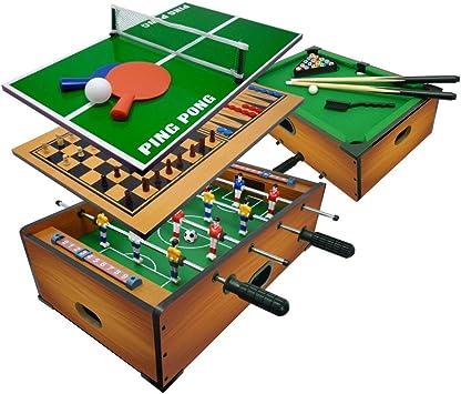 Sport1 Multijuego 6 en 1 de Mesa – Futbolín 6 vs 6 Barras Uscenti/Ping Pong/Mesa de Billar/Scacchi/Dama & Backgammon cm 51 x 31 x 16: Amazon.es: Juguetes y juegos