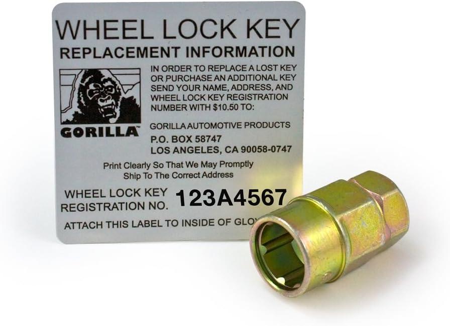 12mm X 1.75 Thread Size Gorilla Automotive 61661N Chrome Acorn Gorilla Guard II Wheel Locks-Set of 4
