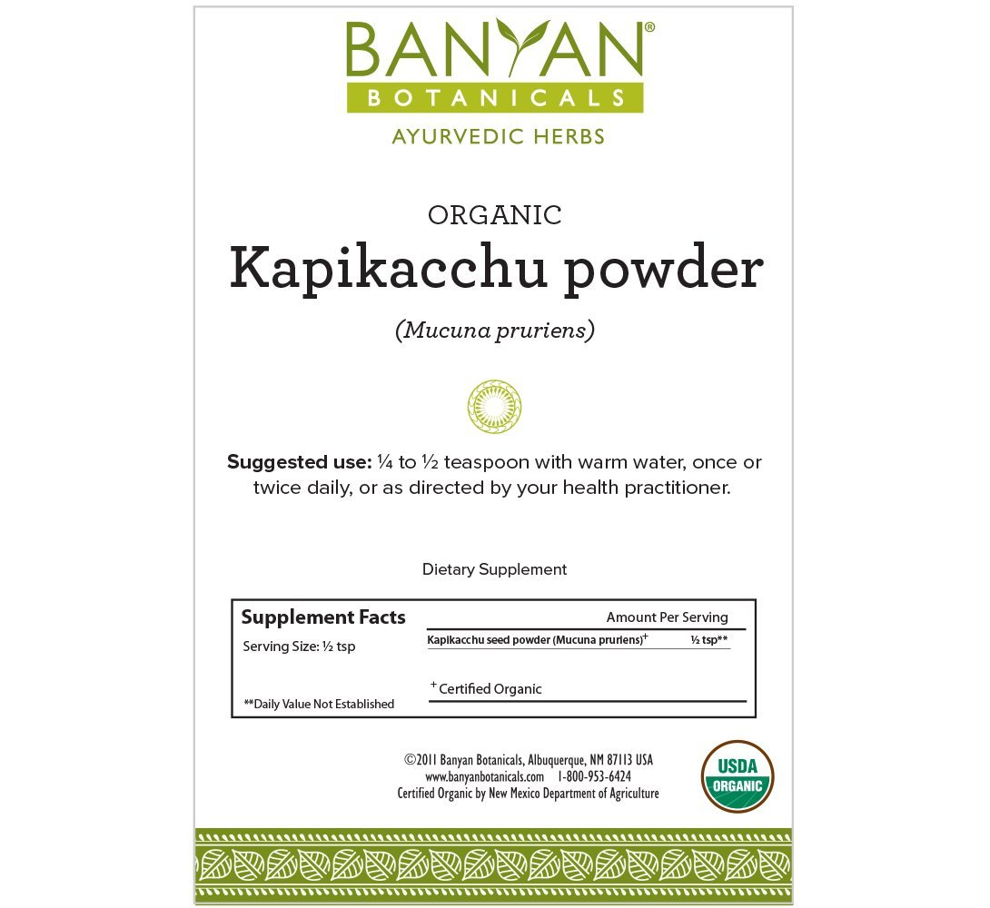 Banyan Botanicals Kapikacchu Powder, 1 Pound - USDA Organic - Mucuna pruriens - Natural Source of L-dopa* by Banyan Botanicals (Image #2)