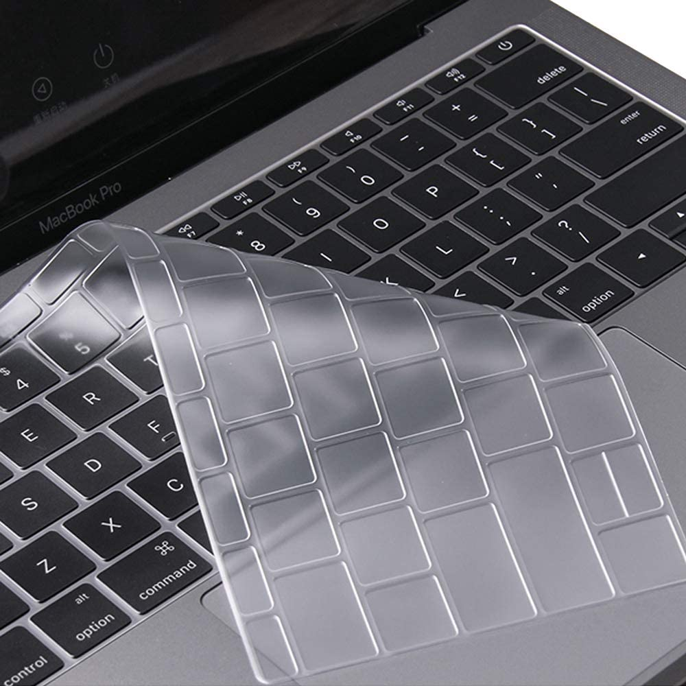 Ultra Thin MacBook Pro 13 Keybord Cover for MacBook Pro 13 Inch 2019/2018/2017/2016 Release A1708 Without Touch Bar Keyboard Protector Skin, New MacBook 12 Inch A1534 Protective Skin, Clear
