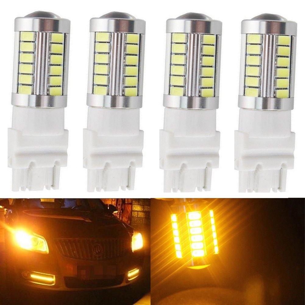 LED 8/000/K super lumineuses 12/V 3,6/W 10 ampoules de feu de stop Katur 3157 3047 3057 3155 5630 33-SMD oranges 900/lumens