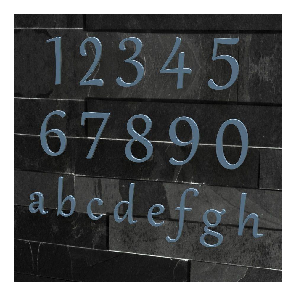 geb/ürstet viele Farben w/ählbar Edelstahl 1 H/öhe: 20-30 cm Schriftart: Klassisch , 20 cm Colours-Manufaktur Hausnummer Nr