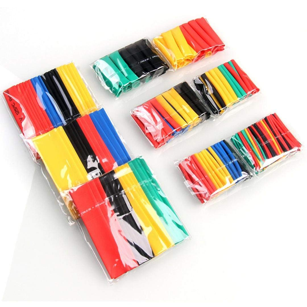 Vektenxi 328 st/ücke 2 1 Schrumpfschlauch 5 Farben 8 Gr/ö/ßen Schlauchset Combo Verschiedene Sleeving Wrap Kabel Draht Kit f/ür DIY Premium Qualit/ät