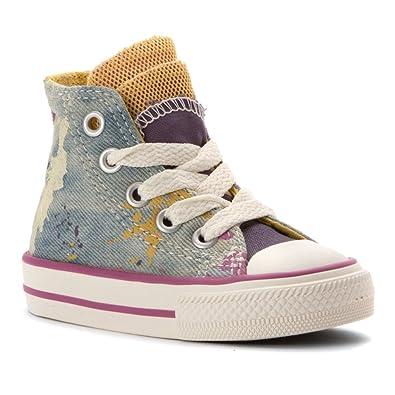 Amazon.com | Converse Girl's Chuck Taylor Party denim Splatter  Infant/Toddler Moody Purple/Cactus Blossom/Powder Purple 9 M | Shoes
