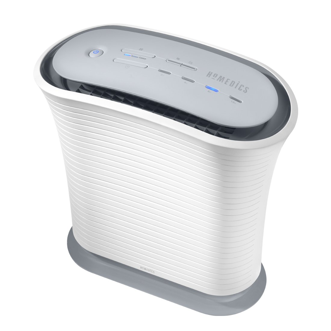 HoMedics TotalClean True HEPA Air Purifier Fan for Medium Room, Keep Air Fresh, Protect from Allergy Infected Air, 3 Speeds + Night Mode, Eliminate 99% of Allergens, Relieve Asthma, Hay Fever - White