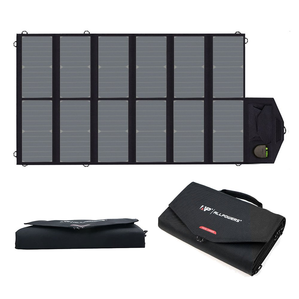 ALLPOWERS 80W Foldable Solar Panel SunPower Solar Charger with iSolar Technology for Laptop, Tablet, ipad,Smartphone, iPhone, Samsung, Acer, Asus, Dell, HP, Toshiba, Lenovo Notebooks, Laptops and More by ALLPOWERS