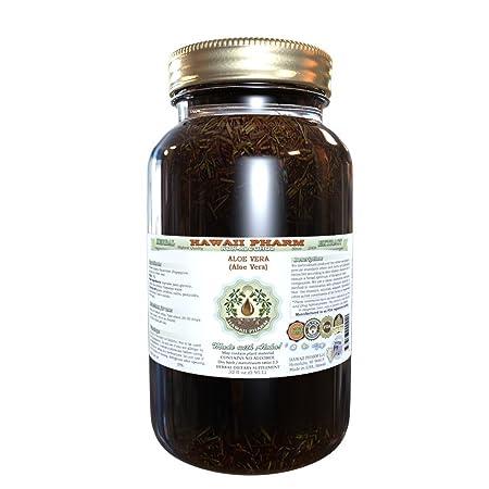 Aloe Vera Alcohol-FREE Liquid Extract, Organic Aloe Vera Aloe Vera Dried Leaf Glycerite Hawaii Pharm Natural Herbal Supplement 32 oz Unfiltered