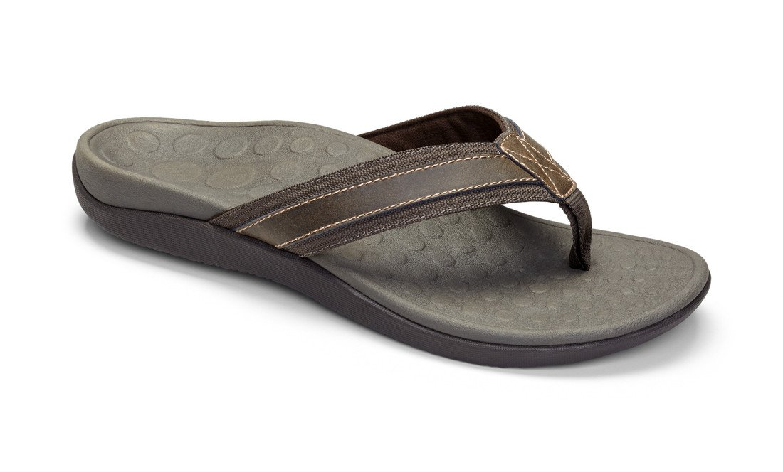 Vionic Mens Tide Sandal Brown Size 10